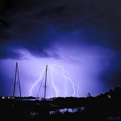...clairs!!!... (fredf34) Tags: france pentax pluie bateaux nuage nuages phare ricoh orage ste canaldumidi k3 languedocroussillon hrault thau eclairs marseillan foudre onglous fredf tangdethau marseillanplage pointedesonglous fredf34 pentaxk3 ricohpentaxk3 fredfu34
