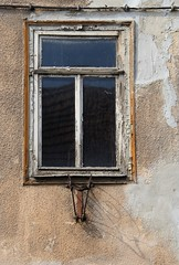 (:Linda:) Tags: shadow abandoned window germany town rust decay thuringia peelingpaint flagholder hildburghausen eisfelderstrase