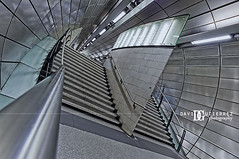 Space Station (davidgutierrez.co.uk) Tags: city uk urban abstract london architecture stairs photography metro metallic tube perspective surreal wideangle structure londres londonunderground escher londra southwark escheresque mcescher londyn davidgutierrez pentaxk5