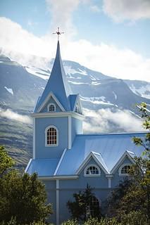 Blue church of Seyðisfjörður