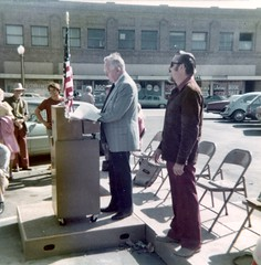 Santa Ana Birthplace tree planting, 1976 (Orange County Archives) Tags: california city history plaque sycamore historical southerncalifornia orangecounty santaana historicalmarker historicalsite orangecountyarchives orangecountyhistory jimsleeper jamesdsleeper