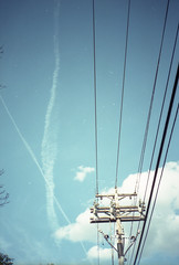 olymxa_0215 (C4NT1) Tags: sky film analog 35mm powerlines wires olympusxa