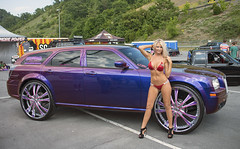 Wheels (Thumpr455) Tags: woman nikon purple may babe bikini dodge swimsuit magnum d800 donk gridgirls 2014 bristoltennessee nopinationals bristoldragway promotionalmodels worldcars afnikkor3570mmf28d
