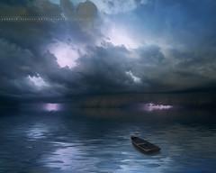 Apocalyptic Storm (Yannick Lefevre) Tags: longexposure sunset seascape storm france beach clouds photoshop landscape evening boat nikon raw nef tripod lightning var manfrotto hoya d300 ndfilter sigma1020 nd8 nikoncapturenx ledramont capturenx2 yllogo ©yannicklefevre  photography