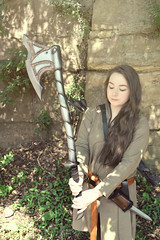 Epic LARP Armory Gear (Larp Girl) Tags: leather belt ranger play action live sca magic medieval geeks nerds lotr fantasy bow sword axe arrows knight cloak celtic dagger armory epic nero weapons larp noble dnd role pathfinder elven tunic amtgard larpers dagohir