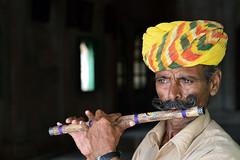 Flute Player (gurpreet_singh.) Tags: music traditional flute player musical instrument turban rajasthan jodhpur thada jaswant