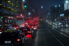 Spencer Street (Ranga 1) Tags: city nightphotography urban cars fog night canon streetlight nocturnal traffic australian streetphotography tram australia melbourne streetscene victoria urbanlandscape nightexposure spencerstreet davidyoung southerncrossstation southerncrossrailwaystation ef24105mmf4lusm canoneos5dmarkiii