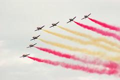 Patrulla guila @Air14 (Huygens! aka GSatiFan) Tags: casa force swiss c smoke air 14 101 years 100 luftwaffe guila aviojet patrulla payern air14