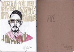 SketchbookProject18 (DANIELLEROCKSPHOTOGRAPHY) Tags: art pen ink typography sketch drawing sketchbook marker micron okcupid tinder plentyoffish sketchbookproject