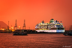 cruise on Getxo port (Mimadeo) Tags: ocean travel cruise light sea vacation sky water modern night port lights evening harbor pier boat twilight dock ship transport cruising vessel journey transportation nautical shipping luxury basquecountry anchored getxo