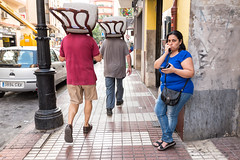 Chair-heads (unoforever) Tags: street people espaa woman man color colour mujer spain gente candid streetphotography cs streetphoto hombre castellon castelln fotografadecalle spcolor