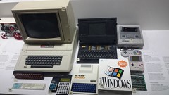 I think i took this image capture in science museum in london (َQ8_Hobby) Tags: old uk windows boy 2 game london apple museum macintosh pc science 31 sinclair zx80
