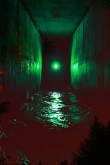 Fearscape. (FadeToBlackLP) Tags: lightpainting green canon lightsandshadows 5 tunnel lp tamron gels culvert snakepass 2014 gelled faffing externalflash 1750mm yongnuo lightjunkie 560ex lpuk lpwalliance fadetoblacklightart lightpaintingworldalliance fadetoblacklp