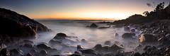 A rocky Beach || Cabarita Beach NSW (edwinemmerick) Tags: ocean longexposure sea panorama seascape beach water sunrise canon eos coast rocks shoreline le shore 7d slowshutter coastline edwin 14mm samyang emmerick edwinemmerick