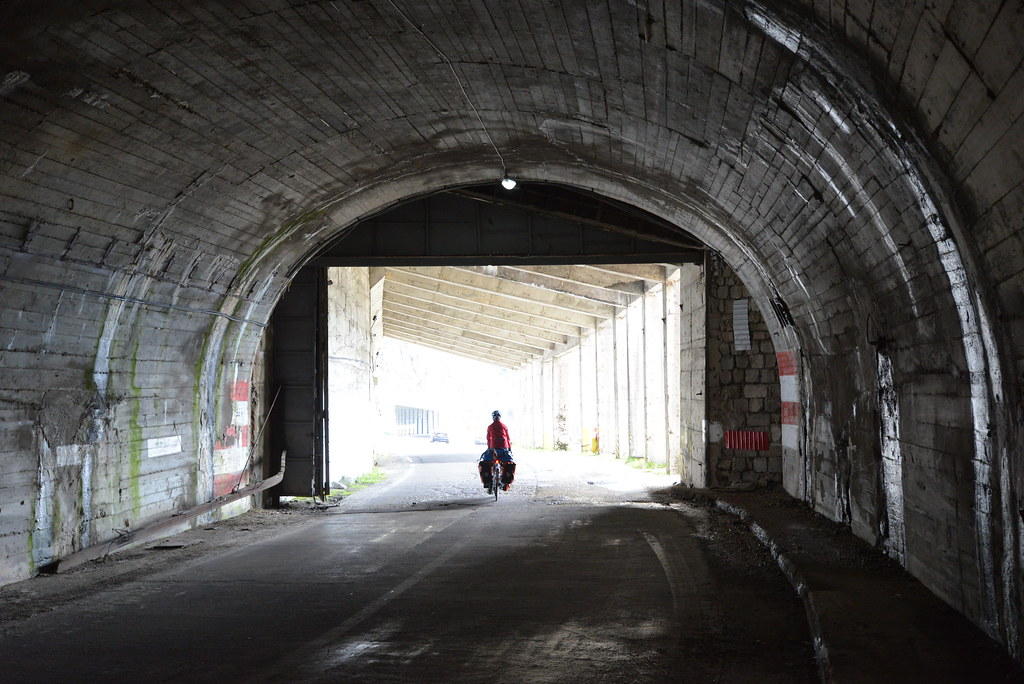Tunnel at the summit