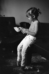 To iron, or not? (Misko78) Tags: light film girl kids 35mm nikon grain manual nikonfe ilford 400asa orwo id11 plustek n74 nikkor50mm14ai 7500i