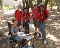 016 Terry Is Surrounded By Scouts (saschmitz_earthlink_net) Tags: california statepark losangeles orienteering santamonicamountains topangacanyon 2014 laoc losangelesorienteeringclub
