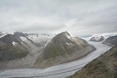 Le glacier d'Aletsch. (Azariel01) Tags: panorama mountain alps clouds montagne alpes schweiz switzerland suisse glacier nuages valais aletsch 2014 eggishorn aletscharena