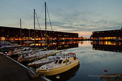 Albert Dock (Brian Sayle) Tags: city sunset water liverpool docks boats wideangle 7d citycentre albertdock 1022 dockland canon1022 superwide efs1022mmf3545 liverpoolcitycentre eos7d canoneos7d canon7d