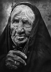 Grieve Web (Waleed Al Abbas) Tags: old people blackandwhite woman white black monochrome lady mono and monochrom wrinkles andwhite
