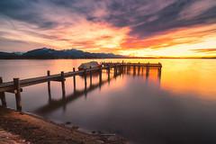 Chiemsee (Croosterpix) Tags: lake sunset chiemsee bayern nikond610 nikkor1835