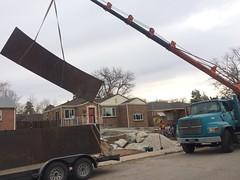 Placing the retaining wall (pr_things) Tags: retainingwall crane steel corten landscape design heavy