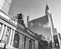 The Terminal (brianloganphoto) Tags: manhattan northamerica regions day clear bw monochrome midtown nyc newyorkcity landcape 42ndstreet landmark unitedstates newyork chrysletbuilding grandcentralterminal