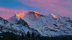 Winter Sunset (bretton98) Tags: davidwhitephotographybretton98canon5dmkiiiwengenswitzerla davidwhitephotographybretton98canon5dmkiiiwengenswitzerlandskiing jungfraujoch sunset mountains snow outdoors ruggedness cloud alpenglow