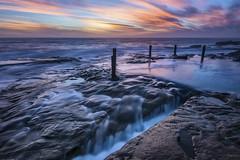 Cut Falls (Crouchy69) Tags: sunrise dawn landscape seascape ocean sea water coast clouds sky rocks flow motion ivor rowe pool coogee sydney australia