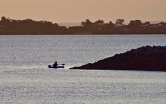 Rounding the point (nealemaynard) Tags: kayak watersports paddling marina wall wellingtonpoint seascape water morning