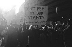 Don't Pee On Our Rights (slightheadache) Tags: analog bw blackandwhite brooklyn diy marchonwashington nyc newyorkcity pentax pentaxk1000 pussyhat tmax tmax400 womensmarch womensmarchonwashington analogny grain pee rights trump midtown