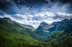 Glacier National Park (donnieking1811) Tags: montana glaciernationalpark mountains trees sky clouds outdoors nationalparks hdr canon 60d