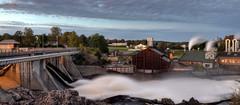Rygenefossen (Øyvind Bjerkholt (Thanks for 38 million+ views)) Tags: nidelva dam water energy power nature landscape rygenefossen arendal norway canon longexposure hdr night