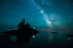 Dreaming of Adventure Again (Bryan Hansel) Tags: camping minnesota night reflections stars spring mn lakesuperior milkyway selfie tombolo