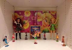 Updated Disney Fairies Display (DisneyDante) Tags: dolls tinkerbell disney figurines fawn vidia zarina disneystore rosetta disneyfairies silvermist iridessa thepiratefairy