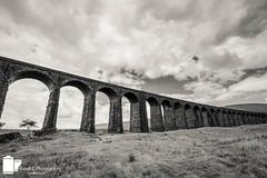 Ribblehead Viaduct (Russell J-D) Tags: bridge blackandwhite cloud landscape landscapes cloudy yorkshire viaduct yorkshiredales landscapephotography