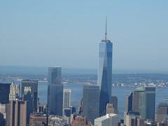 ONE WORLD TRADE CENTER, JUNE 1, 2014 (NYMAN2010) Tags: newyorkcity newyork skyline manhattan manhattanskyline empirestatebuilding wtc freedomtower oneworldtradecenter