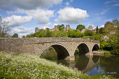 Ludlow Castle from Below (johnwilly) Tags: architecture ludlowcastle canon5d ef24105lis bwcpl photoshopcs5
