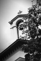 Greek church (tatakis81) Tags: bw film church bells analog canon blackwhite kodak ae1 tmax athens nun tourists greece photowalk priest orthodox tatakis