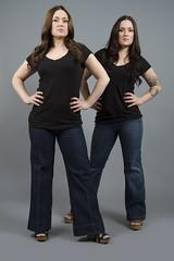 Twins (austinspace) Tags: portrait woman studio washington twins spokane twin brunette identical alienbees