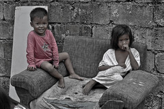 Poor Brother and Sister (Miss ZhaZha) Tags: world life street family playing male love smile childhood closeup female children asian outdoors sadness togetherness asia day child sister brother islam small country beggar depression sidebyside littlegirls adolescence homelessness closeto littleboys humaneye humanface nextto thirld