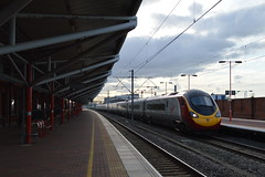390046, Rugby (JH Stokes) Tags: photography rugby transport tracks trains publictransport railways railwaystations trainspotting virgintrains emus westcoastmainline wcml class390 virginpendolino rugbystation electricmultipleunits 390046