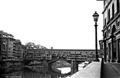 Firenze Ponte Vecchio 1967 b (Paolo Bonassin) Tags: bridge blackandwhite bw monochrome analog bridges ponte scanned 1967 firenze digitized bianconero analogica pontevecchio ponti fotoanalogica monochromeshots scansionedelnegativo photoanalogue photodigitizedanalog fotoanalogichedigitalizzate