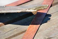 Holz (Manfred Willems) Tags: wood old weather rust iron alt edge rost holz lightandshadow breaking bruch eisen lichtundschatten kanten witterung