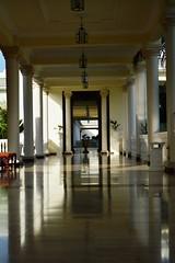 A deserted Walk way (aims121) Tags: morning light shadow sun sunshine dark lights hotel nikon walk columns grand walkway column palladium grandpalladium
