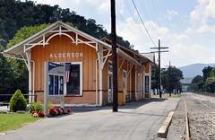 Alderson, West Virginia (1 of 4) (Bob McGilvray Jr.) Tags: railroad station train tracks amtrak westvirginia co depot csx alderson chesapeakeohio