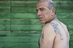 Haim (Noa Ka) Tags: city portrait people man israel nikon jerusalem photojournalism tatoo docu d90