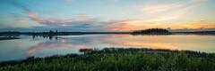 Brush Strokes (WherezJeff) Tags: sunset summer orange lake canada yellow island nationalpark high pano alberta elkisland fortsaskatchewan astotin
