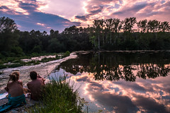 El riu roig de l'amic Güell (totistar) Tags: fuji riu postadesol fluvià totistar jordigrasiot fujixe1