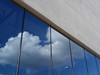 Upside down (karolina*) Tags: blue sky urban cloud reflection glass architecture concrete poland polska minimalism beton poznan architektura chmury niebo odbicie ichot bramapoznania